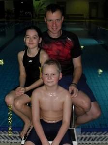 Trainer Holger Dalichow mit seinen Schützlingen Annette Wehrmann und Jan Oliver Erdmann.