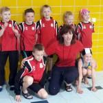 die Zwerghaie mit Trainerin Elke Vorhauer